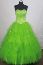 Brand New Ball gown Sweetheart-neck Floor-length Vintage Quinceanera Dresses Style FA-W-r86