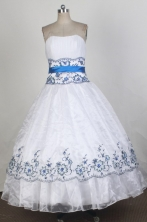 Cheap Ball gown Strapless Floor-length Vintage Quinceanera Dresses Style FA-W-r42