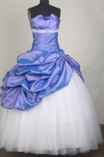 Classical Ball Gown Strapless Strapless Floor-length Vintage Quinceanera Dress LZ426036