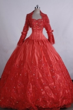 Classical Ball gown Sweetheart neck Floor-Length Red Quinceanera Dresses Style FA-Y-207