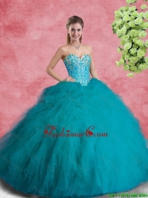 Classical Beaded Sweetheart Quinceanera Dresses with Ruffles SJQDDT98002FOR