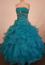 Cute Ball gown Strapless Floor-length Vintage Quinceanera Dresses Style FA-W-310
