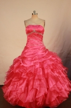 Cute Ball gown Strapless Floor-length Vintage Quinceanera Dresses Style FA-W-324