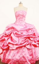 Discount Ball gown Strapless Floor-Length Quinceanera Dresses Style FA-Y-133
