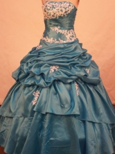 Discount Ball gown Strapless Floor-length Vintage Quinceanera Dresses Style FA-W-319