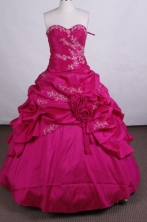 Discount Ball gown Sweetheart Floor-length Quinceanera Dresses Appliques with Beading Style FA-Z-002