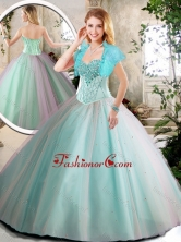 Elegant Aqua Blue Quinceanera Dresses with Beading SJQDDT217002FOR
