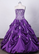 Elegant Ball Gown Strapless FLoor-Length Vintage Quinceanera Dresses L42441