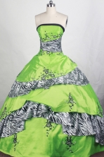 Elegant Ball gown Strapless Floor-length Quinceanera Dresses Style FA-W-r69