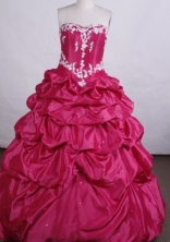 Elegant Ball gown Sweetheart Floor-length Fuchsia Quinceanera Dresses Appliques Style FA-Z-0025