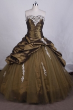 Elegant Ball gown Sweetheart Floor-length Quinceanera Dresses Appliques Style FA-Z-0054