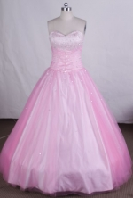 Elegant Ball gown Sweetheart Floor-length Quinceanera Dresses  with Beading Style FA-Z-009