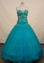 Exclusive A-line strapless Floor-length Quinceanera Dresses Beadings Style FA-Z-0066
