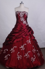 Exquisite Ball Gown Strapless Floor-Length Quinceanera Dresses Style FA-S-215