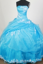 Exquisite Ball Gown Strapless Floor-length Quinceanera Dress ZQ12426073