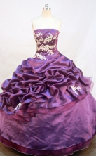 Exquisite Ball gown Strapless Floor-Length Quinceanera Dresses Style FA-Y-168