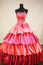 Fashionable Ball gown Strapless Floor-Length Quinceanera Dresses Style FA-Y-155