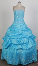 Gorgeous Ball Gown Strapless Floor-length Vintage Quinceanera Dress ZQ12426024