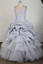 Gorgeous Ball Gown Sweetheart Neck Floor-length Gary VintageQuinceanera Dress LZ426018