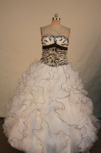 Gorgeous Ball gown Strapless Floor-length Vintage Quinceanera Dresses Style FA-W-317