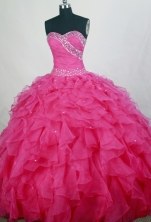 Gorgeous Ball gown Sweetheart-neck Floor-length Quinceanera Dresses Style FA-W-r80