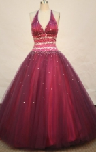 Gorgeous Ball gown V- neck Floor-length Quinceanera Dresses Style FA-W-095