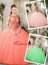 Inexpensive Bateau and Beading Quinceanera Dresses SJQDDT224002-1FOR