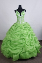 Lovely Ball gown Straps Floor-length Vintage Quinceanera Dresses Appliques Style FA-Z-0020