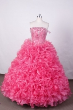 Luxurious Ball Gown Strapless FLoor-Length Quinceanera Dresses Style LZ42467