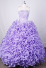 Luxurious Ball Gown Strapless FLoor-Length Vintage Quinceanera Dresses LZ42461