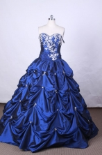 Luxurious Ball Gown Sweetheart Neck FLoor-Length Vintage Quinceanera Dress LZ42444