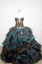 Luxurious Ball gown Strapless Floor-length Organza Quinceanera Dresses Style FA-W-064