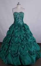 Luxurious Ball gown Sweetheart Floor-length Appliques Vintage Quinceanera Dresses Style FA-Z-003