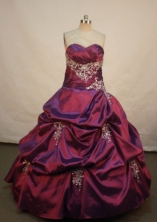 Luxurious Ball gown Sweetheart Floor-length Quinceanera Dresses Appliques Style FA-Z-0089