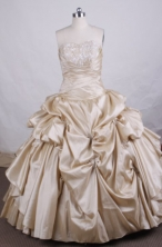 Luxurious Ball gown Sweetheart Floor-length Quinceanera Dresses TD2411