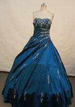 Luxurious Ball gown Sweetheart Floor-length Quinceanera Dresses Embroidery with Beading Style FA-Z-0