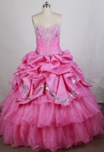 Luxurious Ball gown Sweetheart-neck Floor-length Vintage Quinceanera Dresses Style FA-W-r63
