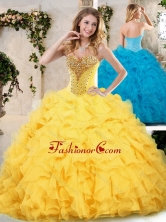 Modern Sweetheart Quinceanera Dresses with Beading and Ruffles SJQDDT233002FOR