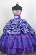 Modest Ball Gown Strapless Floor-length Quinceanera Dress ZQ12426083