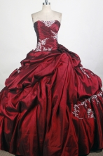 New Ball Gown Strapless Floor-length Quinceanera Dress ZQ12426067