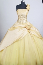 Perfect Ball Gown Strapless Floor-length Quinceanera Dress ZQ12426078