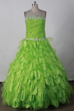 Perfect Ball Gown Strapless Floor-length Spring Green Vintage Quinceanera Dress LJ2674