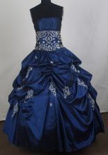 Perfect Ball Gown Strapless Floor-length Vintage Quinceanera Dress ZQ12426071