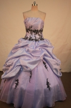 Perfect Ball gown Strapless Floor-length Vintage Quinceanera Dresses Style FA-W-327