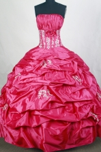 Popular Ball gown Strapless Floor-length Quinceanera Dresses Style FA-W-r83