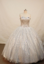 Popular Ball gown Strapless Floor-length Sliver Quinceanera Dresses Style FA-W-046