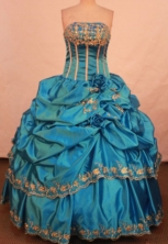 Popular Ball gown Strapless Floor-length Vintage Quinceanera Dresses Style FA-W-304