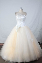 Popular Ball gown Strapless Floor-length Vintage Quinceanera Dresses Style FA-W-338