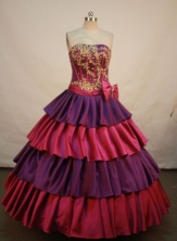 Pretty A-line Strapless Knee-length Quinceanera Dresses Appliques with Beading Style FA-Z-0090
