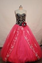 Pretty A-line Sweetheart Floor-length Appliques Quinceanera Dresses FA-Z-00130